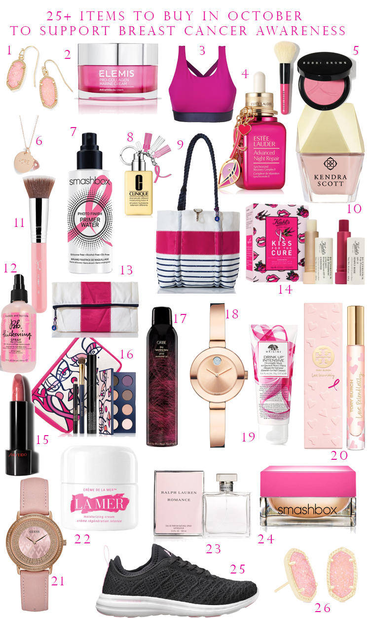 25+ Items to Purchase in October to Support Breast Cancer Awareness