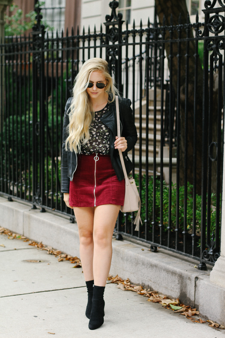 The Best Ways to Style a Faux Suede Skirt For Fall